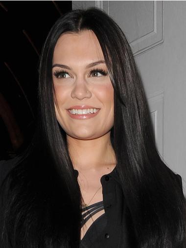 New Black Lace Front Long Jessie J Wigs