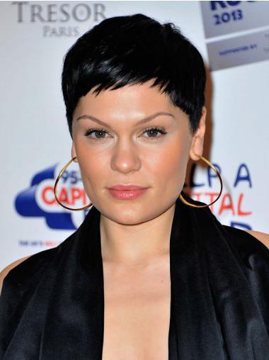 Fashionable Black Straight Cropped Jessie J Wigs