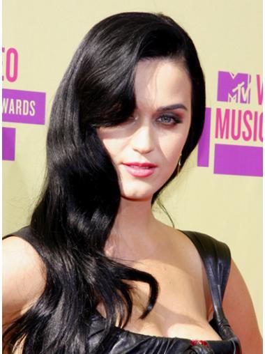 Graceful Black Wavy Long Katy Perry Wigs