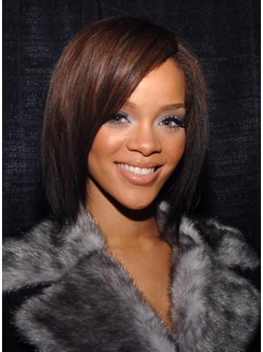 Glamorous Auburn Straight Shoulder Length Rihanna Wigs