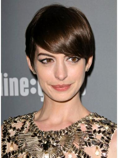 Flexibility Lace Front Straight Cropped Anne Hathaway Wigs