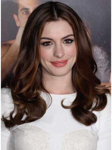 Fabulous Auburn Wavy Long Anne Hathaway Wigs