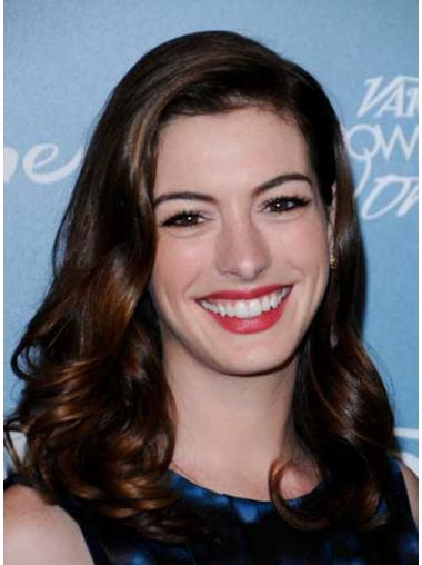 Discount Auburn Curly Long Anne Hathaway Wigs