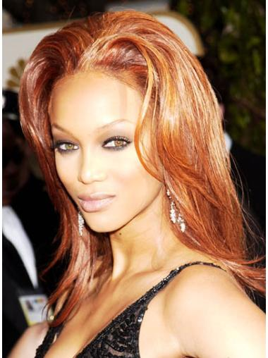 Hairstyles Auburn Straight Shoulder Length Tyra Banks Wigs