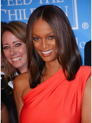 Incredible Auburn Straight Shoulder Length Tyra Banks Wigs