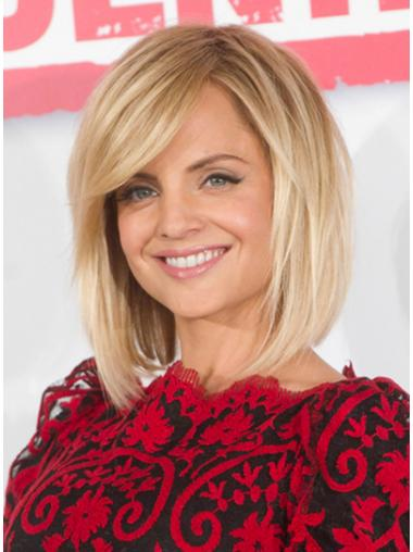 Stylish Blonde Lace Front Chin Length Mena Suvari Wigs