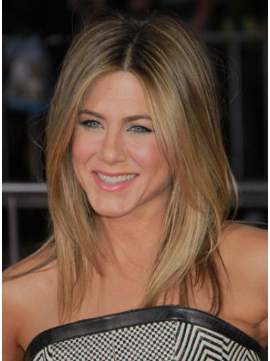 Modern Blonde Straight Shoulder Length Jennifer Aniston Wigs