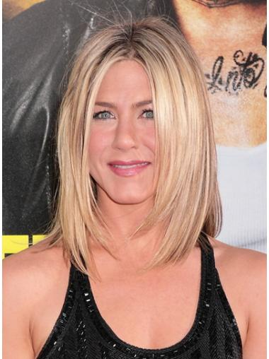 Hairstyles Blonde Lace Front Shoulder Length Jennifer Aniston Wigs