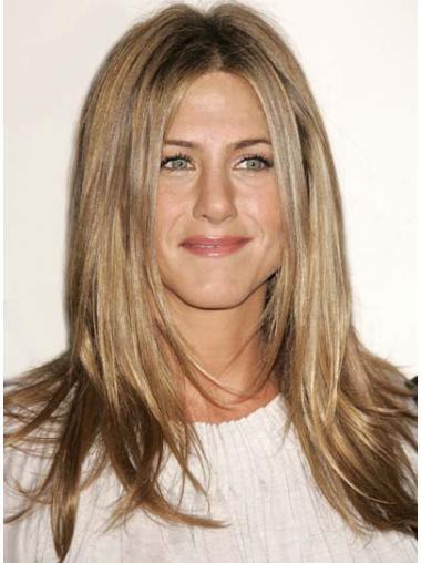 No-fuss Blonde Lace Front Long Jennifer Aniston Wigs