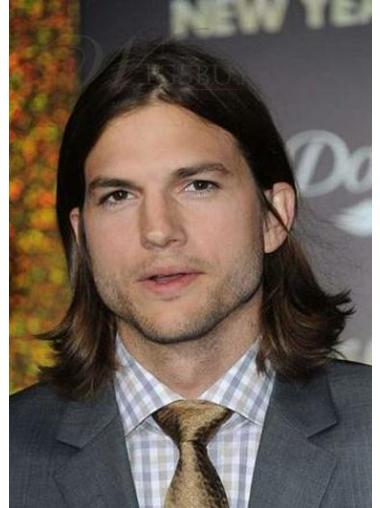 Fashion Brown Straight Shoulder Length Men Wigs