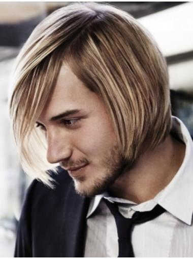 Mature Blonde Straight Short Men Wigs