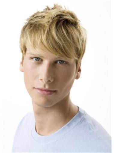 Amazing Blonde Wavy Short Men Wigs
