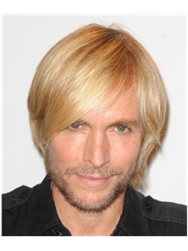 Glamorous Blonde Straight Short Men Wigs