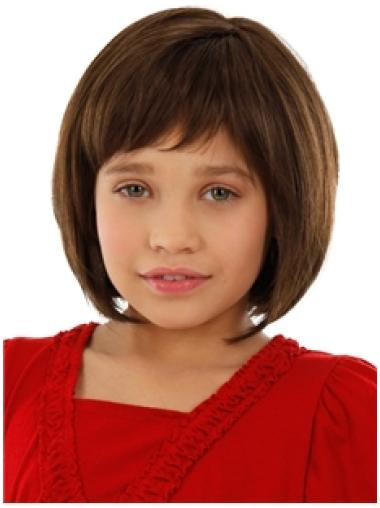 Faddish Auburn Straight Chin Length Kids Wigs