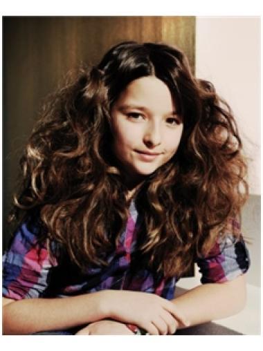 Cosy Brown Wavy Long Kids Wigs