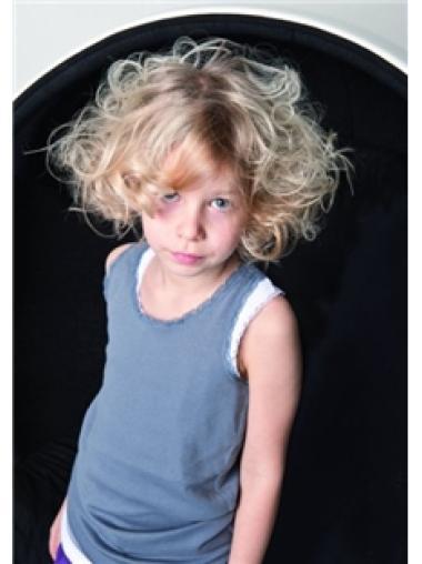 Fabulous Blonde Wavy Chin Length Kids Wigs