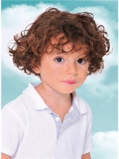 Pleasing Auburn Curly Short Kids Wigs