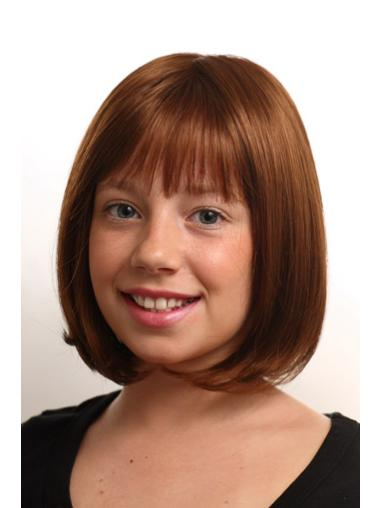 Comfortable Monofilament Straight Chin Length Kids Wigs