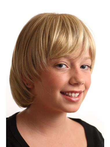Discount Blonde Straight Short Kids Wigs