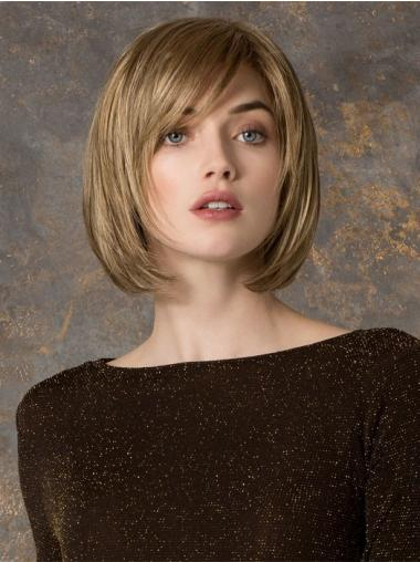 Blonde Impressive Monofilament Synthetic Wigs For Cancer