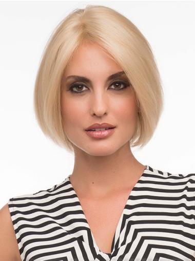 Blonde Monofilament Flexibility Medium Wigs