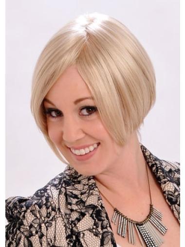 Blonde Faddish Monofilament Synthetic Medium Wigs