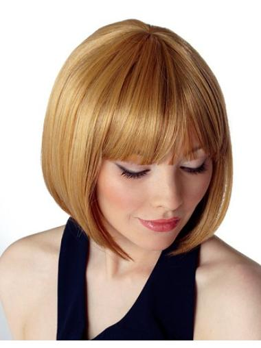 Easeful Blonde Straight Chin Length Bob Wigs