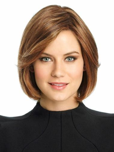 Style Lace Front Straight Chin Length Remy Human Lace Wigs