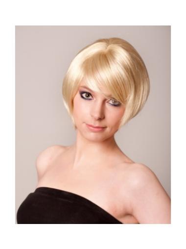 10.6 Inch Blonde Good Bob Wigs