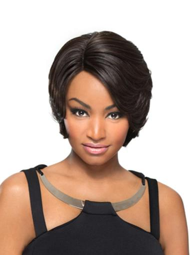 Durable Black Straight Short African American Wigs