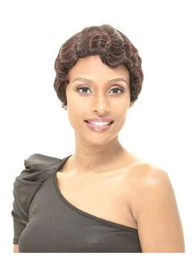 Stylish Brown Straight Short African American Wigs