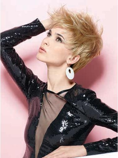 Graceful Straight Boycuts Blonde Short Wigs