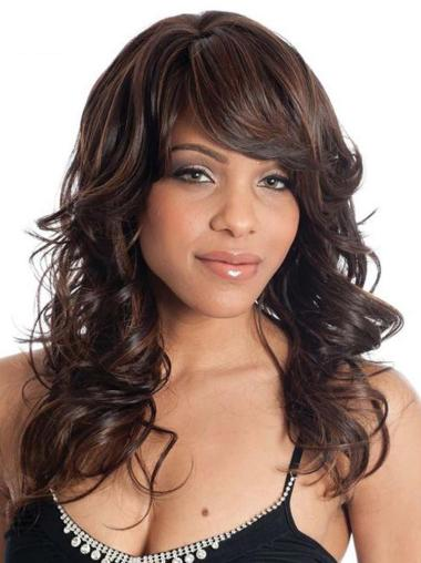 Auburn Layered Wavy Traditiona Long Wigs
