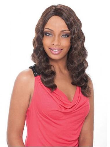 Nice Brown Wavy Long African American Wigs