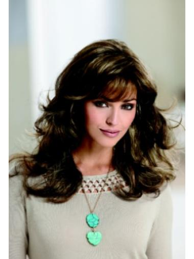 Brown Wavy Synthetic Stylish Long Wigs