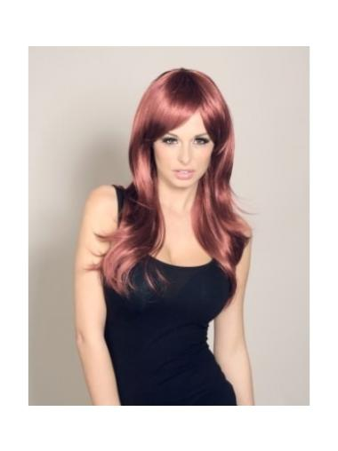 Auburn Straight With Bangs 22 Inch Wigs