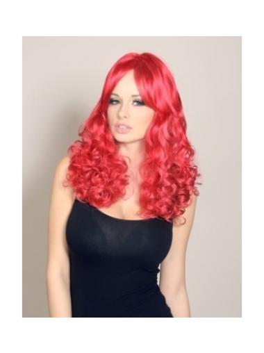 Red Curly Without Bangs Stylish Wigs