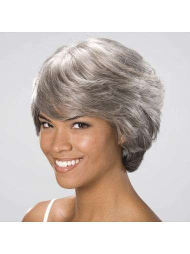 Straight Beautiful Synthetic Grey Wigs