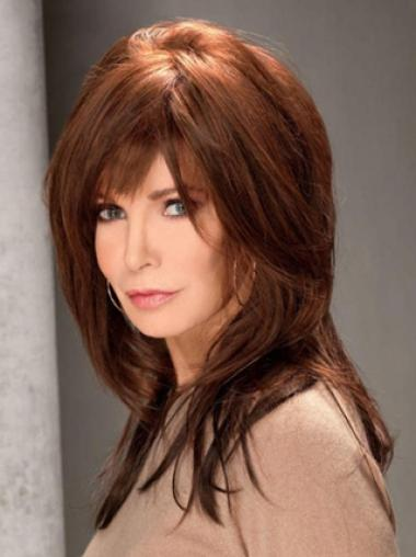 Jacklyn Smith Endearing and Lovely Long Straight Lace Human Hair Wig with Velvet Quality