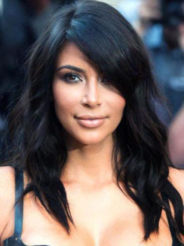 Stylish Long Loose Wave Kim Kardashian's Human Hair Wig 16 Inches