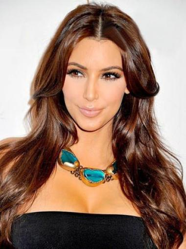 Kim Kardashian Natural Long Straight Lace Front Synthetic Wigs 20 Inches