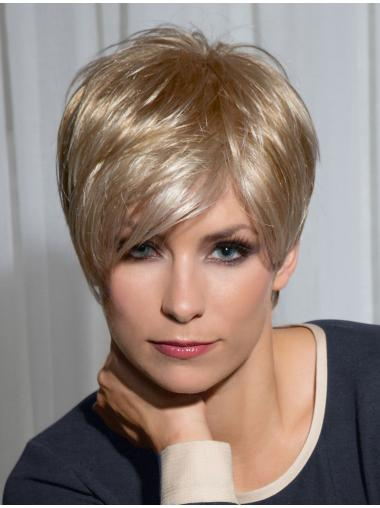 Polite Blonde Straight Cropped Synthetic Wigs