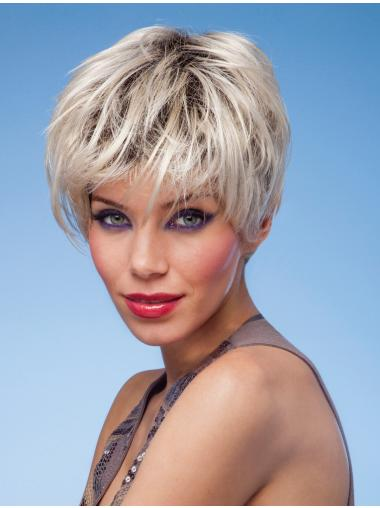 Mature Monofilament Cropped Synthetic Wigs