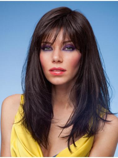 Gorgeous Black Monofilament Long Synthetic Wigs