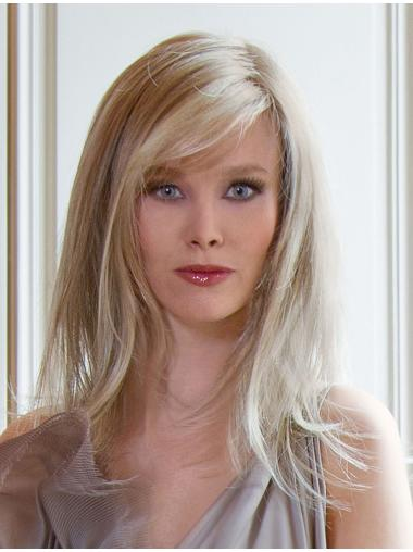 Easeful Blonde Straight Long Lace Wigs