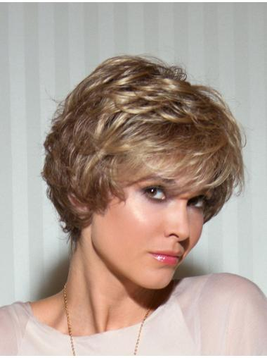 Faddish Blonde Wavy Short Lace Wigs