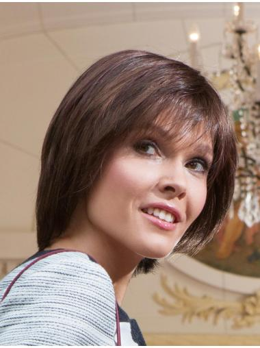 Impressive Brown Straight Short Lace Wigs
