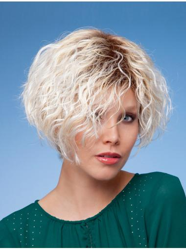 New Blonde Curly Short Wigs