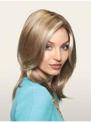 Perfect Blonde Straight Long Monofilament Wigs