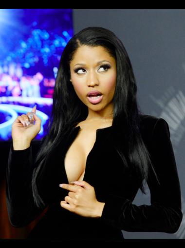 Sleek Black Straight Long Nicki Minaj Wigs